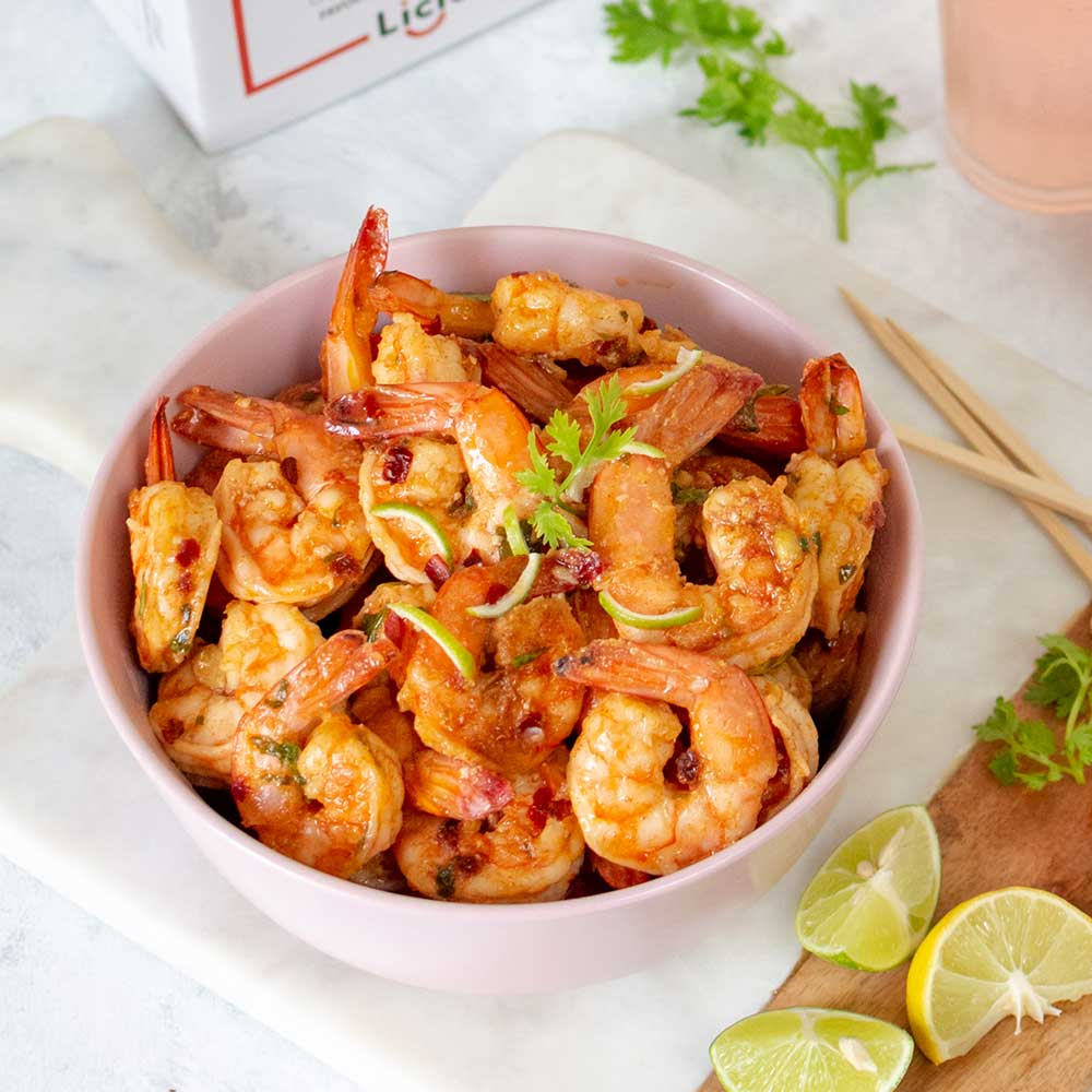 Sweet Chilli Lime Prawns