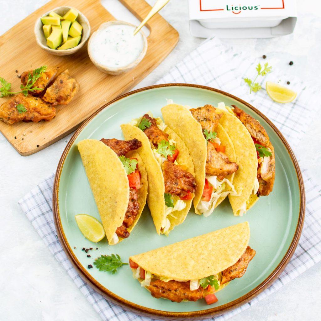 Fiery Fish Pakoda Tacos