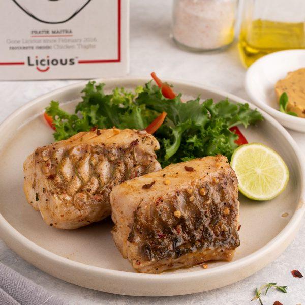 Fish with cafe de paris butter