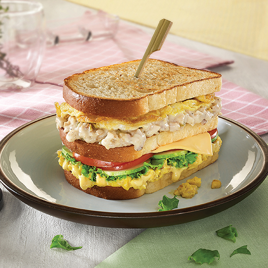 Mustard Chicken Club Sandwich