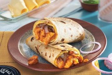 Butter Chicken Kathi Roll Recipe