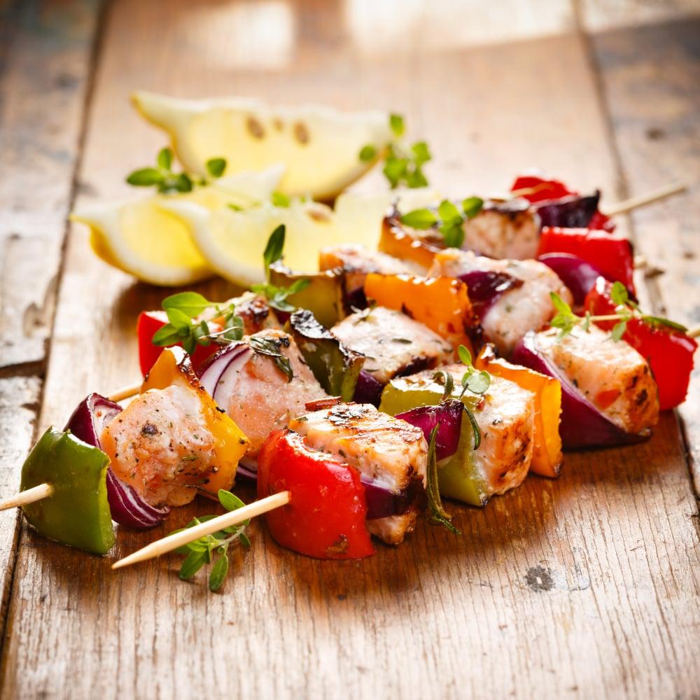 Fish Skewer Kebabs Recipe