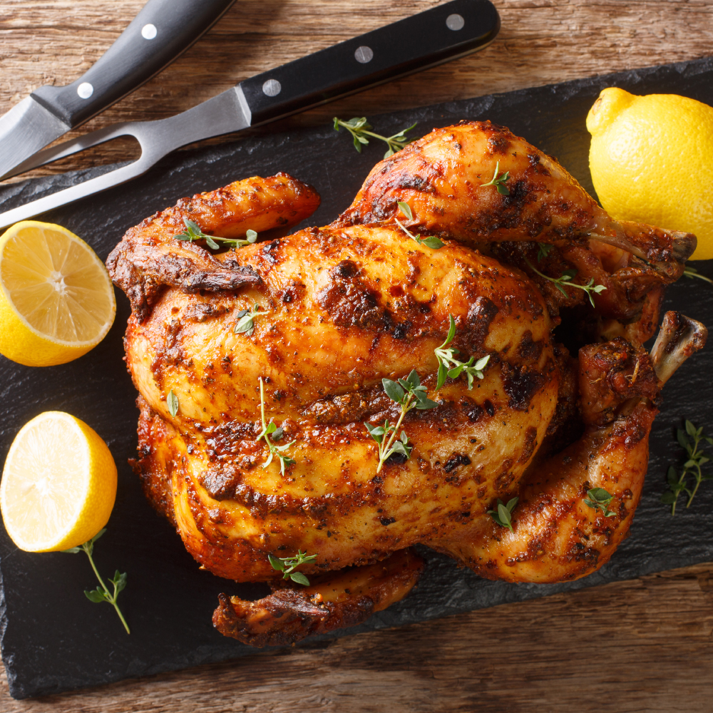 Roast Chicken Recipe Roast Chicken With Desi Twist Licious