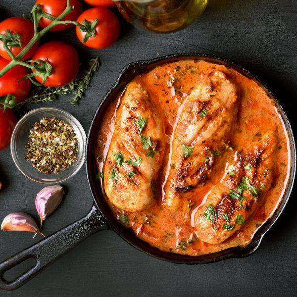 Skillet Chicken in Tomato Sauce Recipe