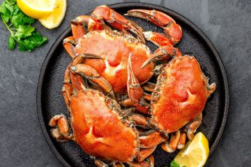 Crabs in a plate