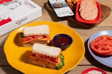 Peppery Chicken Salami & Cheese Sandwich